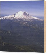 Mount Rainier Washington State Wood Print