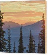 Mount Revelstoke Wood Print