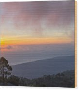 Mount Rinjani Wood Print