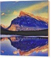 Mount Rundle Reflection Wood Print