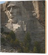 Mount Rushmoore Detail - Abraham Lincoln  Wood Print