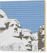 Mount Rushmore - Blue Wood Print