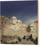 Mount Rushmore Wood Print by Brent Parks