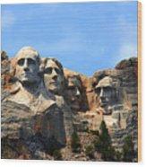Mount Rushmore In South Dakota Wood Print