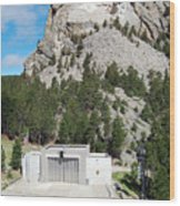 Mount Rushmore National Monument Overlooking Amphitheater South Dakota Wood Print