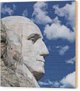 Mount Rushmore Profile Of George Washington Wood Print
