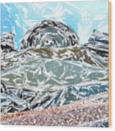 Mount Saint Auto Crush Wood Print