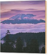 Mount Saint Helens Sunset Wood Print