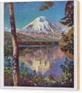 Mount Saint Helens Vintage Travel Poster Restored Wood Print