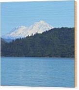 Mount Shasta And Shasta Lake Wood Print
