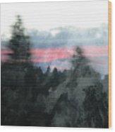 Mount Shasta Forest Sunrise Wood Print