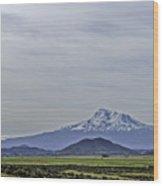 Mount Shasta Majesty Wood Print