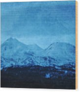 Mount Shasta Twilight Wood Print