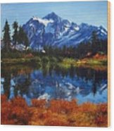 Mount Shuksan Wood Print