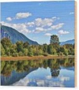 Mount Si Overlooks Mill Pond Wood Print