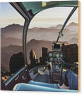 Mount Sinai Helicopter Wood Print