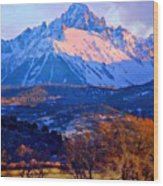 Mount Sneffels  Wood Print