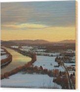 Mount Sugarloaf Winter Sunset Wood Print