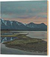 Mount Tallac At Sunset Wood Print
