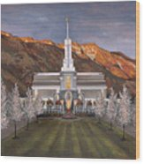 Mount Timpanogos Temple Wood Print
