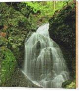 Mount Toby Roaring Falls Wood Print