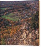 Mount Tom Ridge Autumn View Wood Print