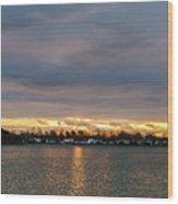 Mount Trashmore Sunrise 2 Wood Print