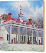 Mount Vernon After The Squall Wood Print