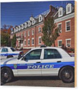 Mount Vernon Police Department Wood Print by June Marie Sobrito