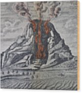 Mount Vesuvius, 1665 Wood Print
