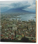 Mount Vesuvius Naples It Wood Print