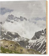 Mount Viso In The Clouds Wood Print