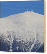 Mount Washington Summit And Weather Observatory Wood Print