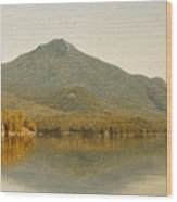 Mount Whiteface From Lake Placid Wood Print