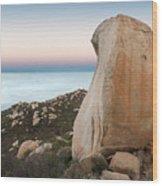 Mount Woodson At Dawn Wood Print