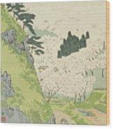 Mount Yoshino, Cherry Blossoms Wood Print