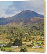 Mount Zeehan Valley Town. West Tasmania Australia Wood Print