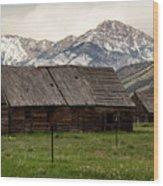Mountain Barn Wood Print
