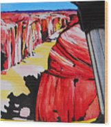 Mountain Bike Moab Slickrock Wood Print by Susan M Woods