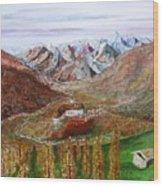 Mountain Castle Wood Print