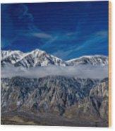 Mountain Cloud Wood Print
