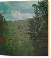 Mountain Clouds Wood Print