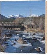 Mountain Creek In October Wood Print