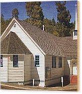 Mountain Crossroads Church Building Wood Print
