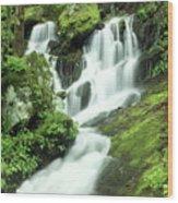 Mountain Falls Wood Print by Marty Koch