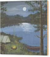 Mountain Fish Camp Wood Print