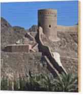 Mountain Fort Wood Print