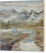 Mountain Fresh Water Wood Print