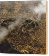 Mountain From The Air Wood Print