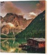 Mountain Getaway Wood Print